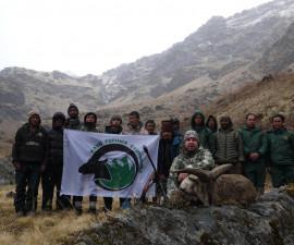 Охота в Непале на голубого барана