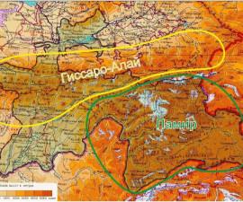 Горные системы Гиссаро-Алай и Памир в границах Республики Таджикистан