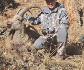 Охота Тлеулина Тимура в Узбекистане на горного козла октябрь 2020