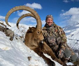 Mid Asian ibex hunt in Uzbekistan